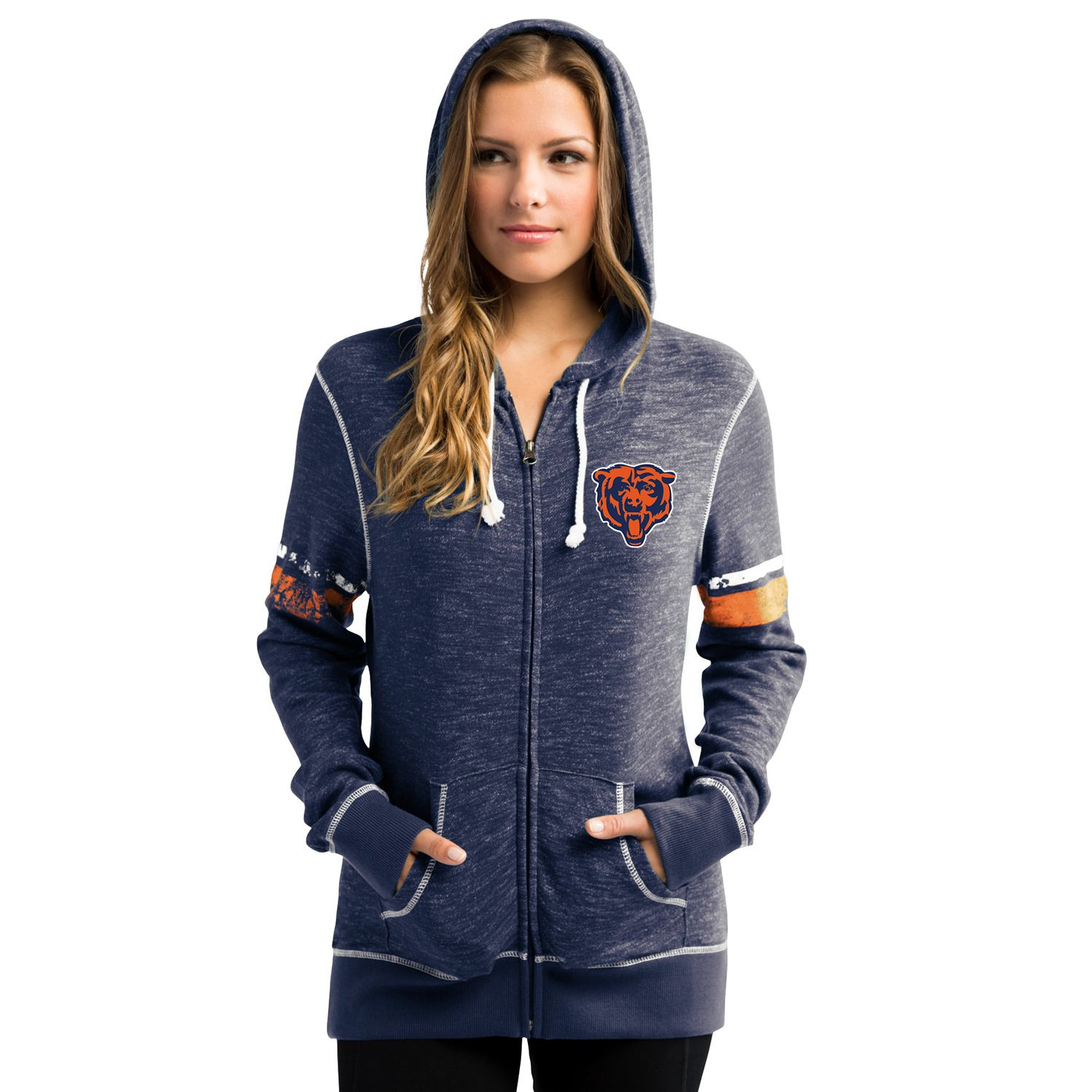Womens Majestic Chicago Bears Athletic Tradition Hoodie