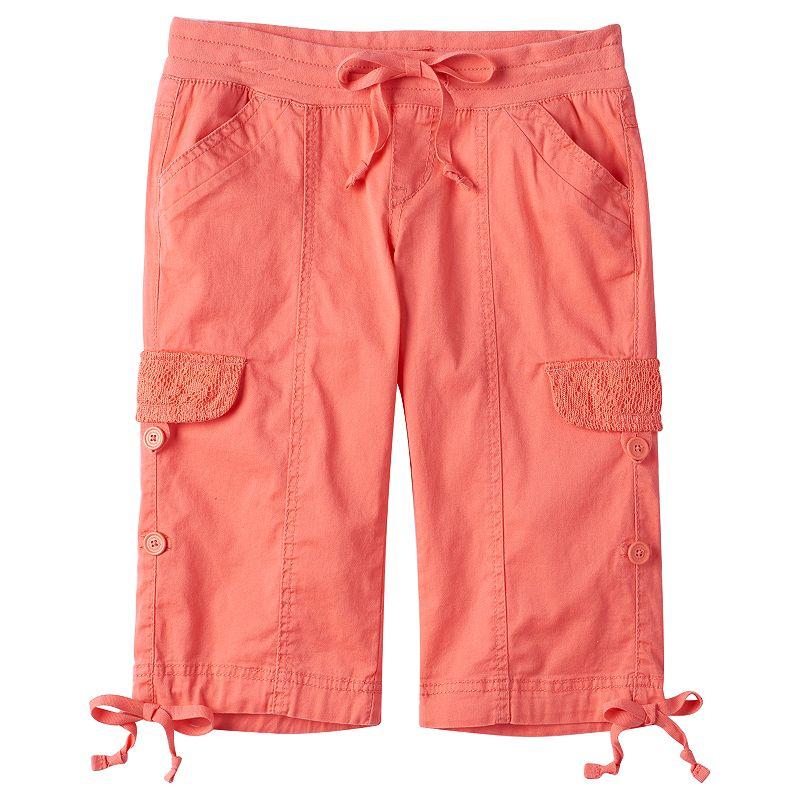 Girls 7-16 Unionbay Gilliam Cuffed Cargo Shorts