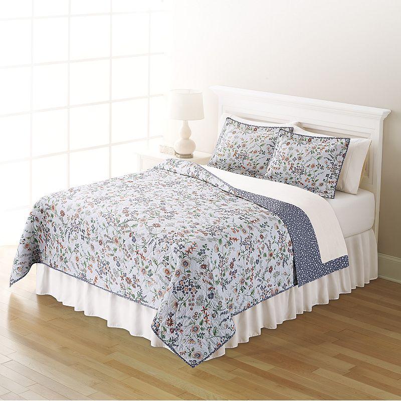 Home Classics® Sarah Purple Floral Quilt