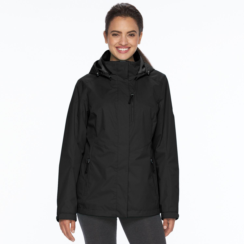 Womens ZeroXposur Gianna Hooded Hard Shell 3-in-1 Systems Jacket