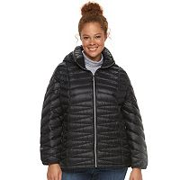 Plus Size ZeroXposur Jolie Hooded Packable Down Puffer Coat