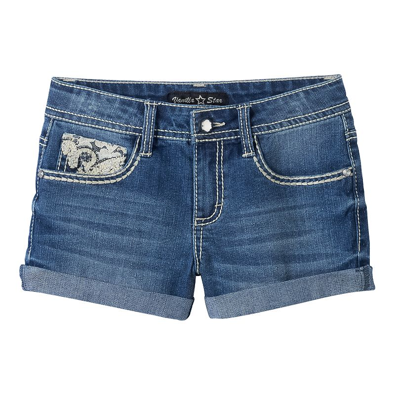 Girls 7-16 Vanilla Star Zaza Bling Denim Shorts