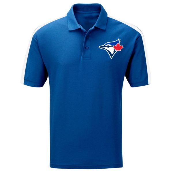 Big & Tall Majestic Toronto Blue Jays Colorblock Polo