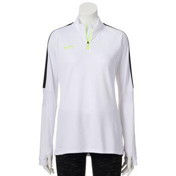 Nike Womens Squad Dri-FIT Quarter-Zip Top