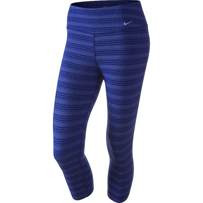 Women's Nike Legend Dri-FIT Cotton Zig Dot Capri Workout Tights