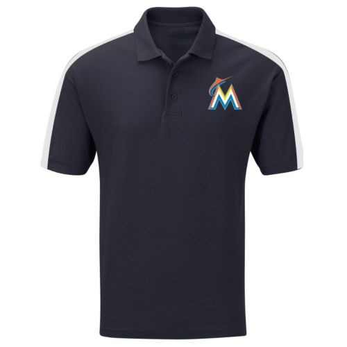 Big & Tall Majestic Miami Marlins Colorblock Polo