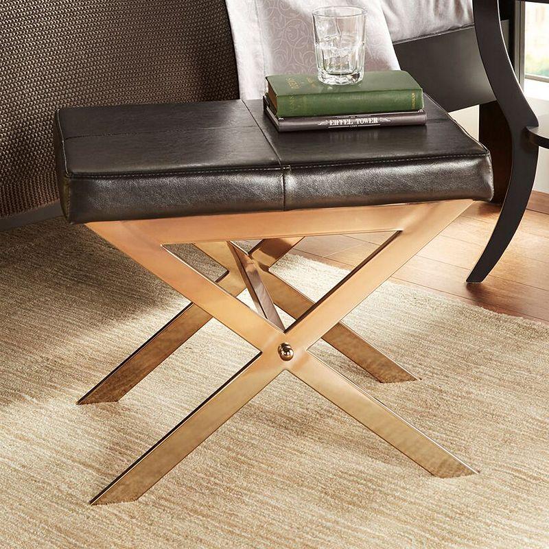 HomeVance Desiree Metal Bench