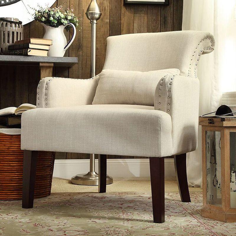 HomeVance Celia Rollback Club Chair