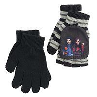 Disney's Descendants Mal & Evie Girls 4-16 2-pk. Convertible Flip-Top Fingerless Gloves