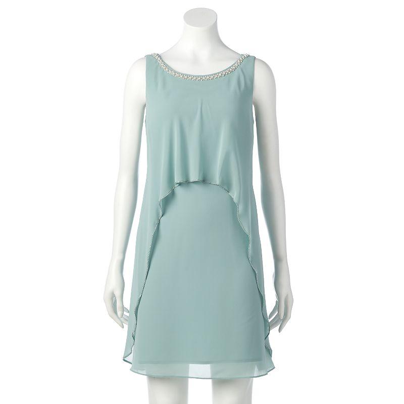 Women's Expo Beaded Chiffon Shift Dress