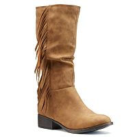 Candie's® Girls' Tall Fringe Riding Boots
