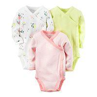 Baby Girl Carter's 3-pk. Print Side-Snap Bodysuits