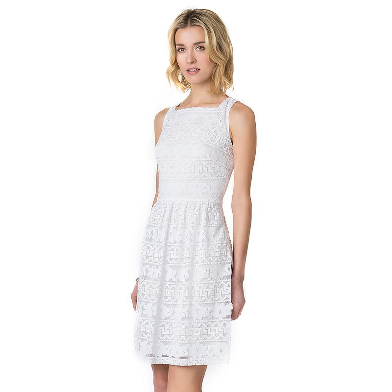 Women's Indication by ECI Lace Fit & Flare Dress