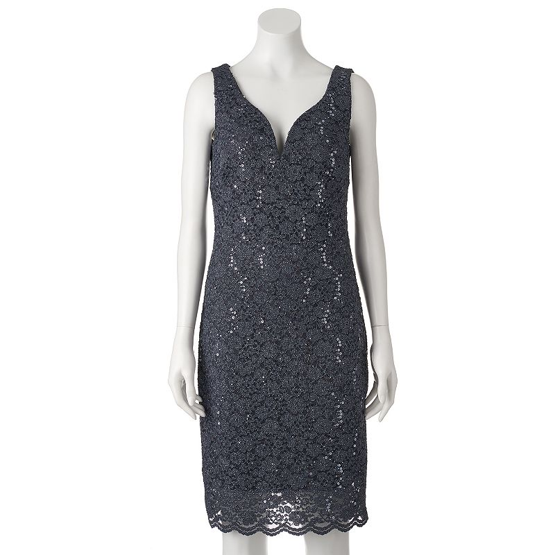 Women's Helene Blake Glitter Lace Sheath Dress