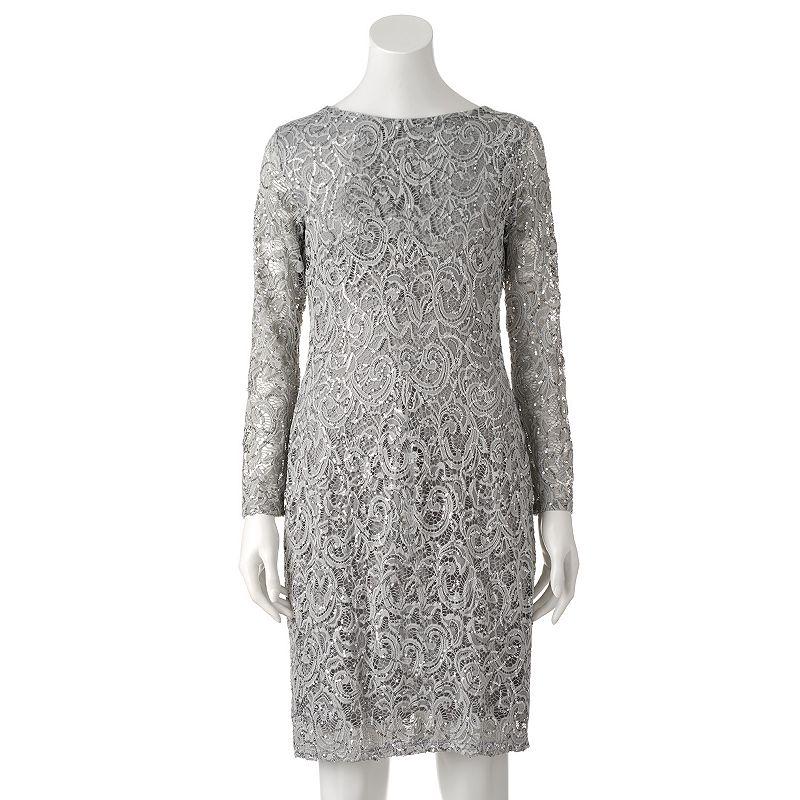 Women's Helene Blake Sequin Lace Sheath Dress
