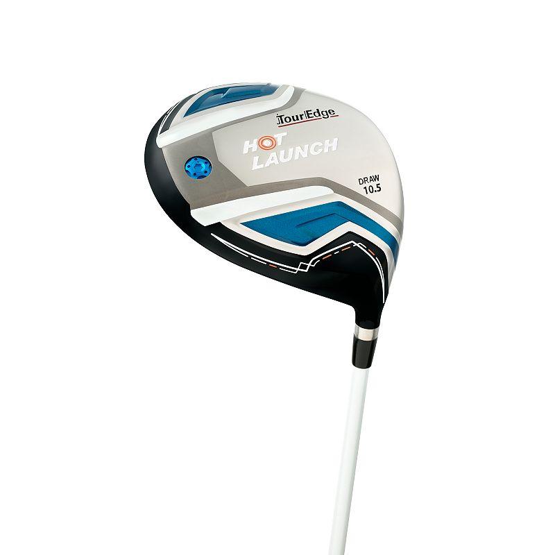 Men's Tour Edge Golf Hot Launch Right Hand S-Flex 10.5 Draw Driver, Silver