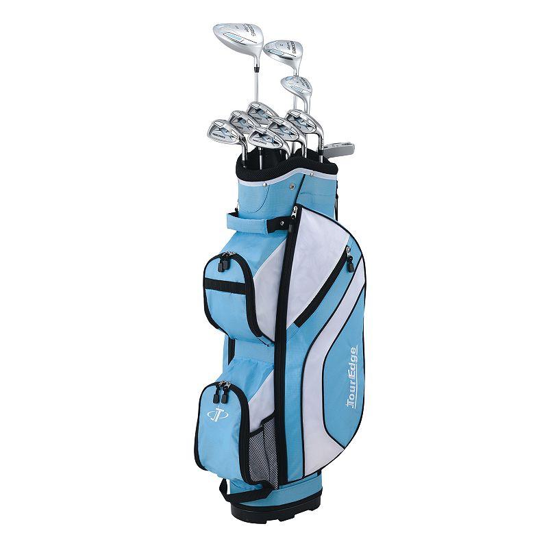 Women's Tour Edge Golf Reaction Right Hand Golf Clubs & Cart Bag Set, Blue