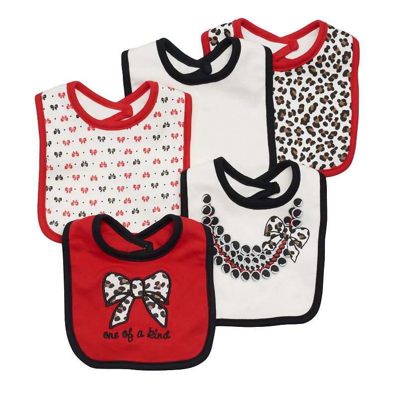 Baby Girl Cutie Pie 5-pk. Pattern Bibs