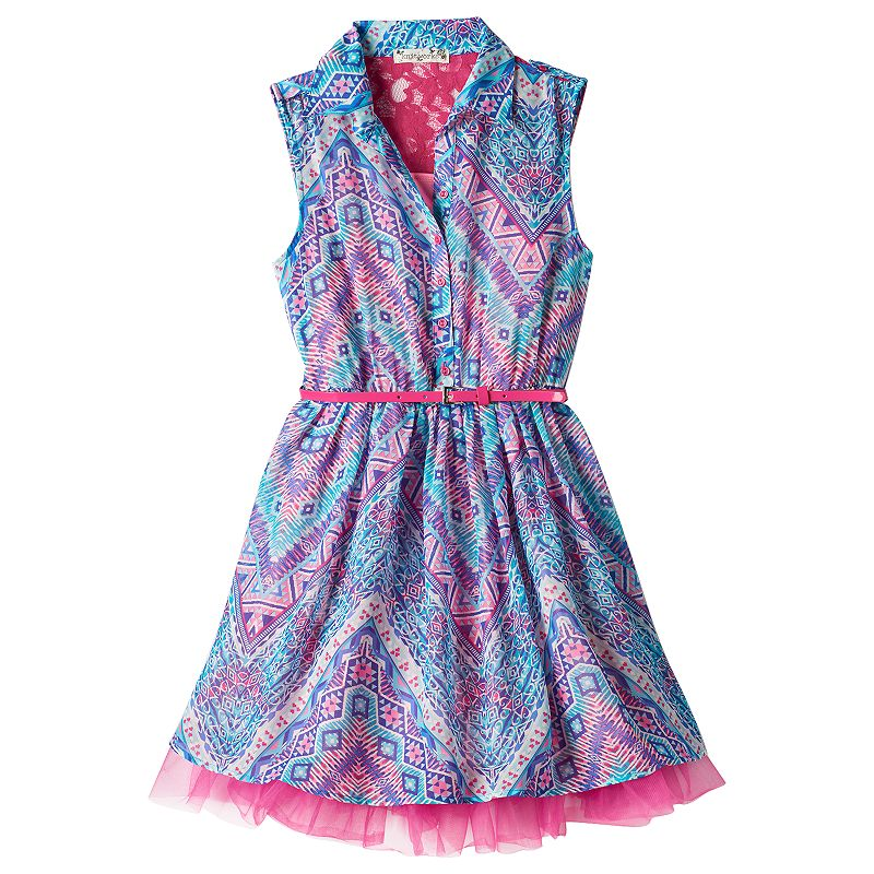 Girls 7-16 & Plus Size Knitworks Belted Shirt Dress