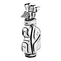 Women's Tour Edge Golf 2014 Lady Edge Right Hand Golf Clubs & Deluxe Cart Bag Set