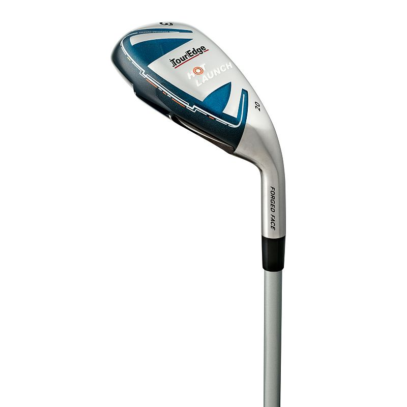 Men's Tour Edge Golf Hot Launch Right Hand A-Flex 4-Iron-Wood Series Pitching Wedge, Silver