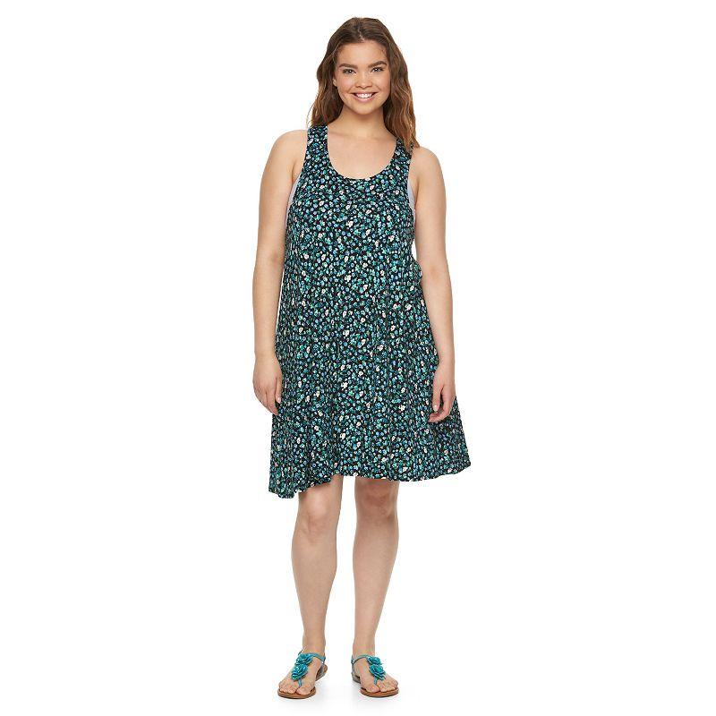 Juniors' Plus Size SO® Racerback Knit Swing Dress