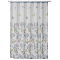 One Home Brand Enchanted Garden Printed Shower Curtain