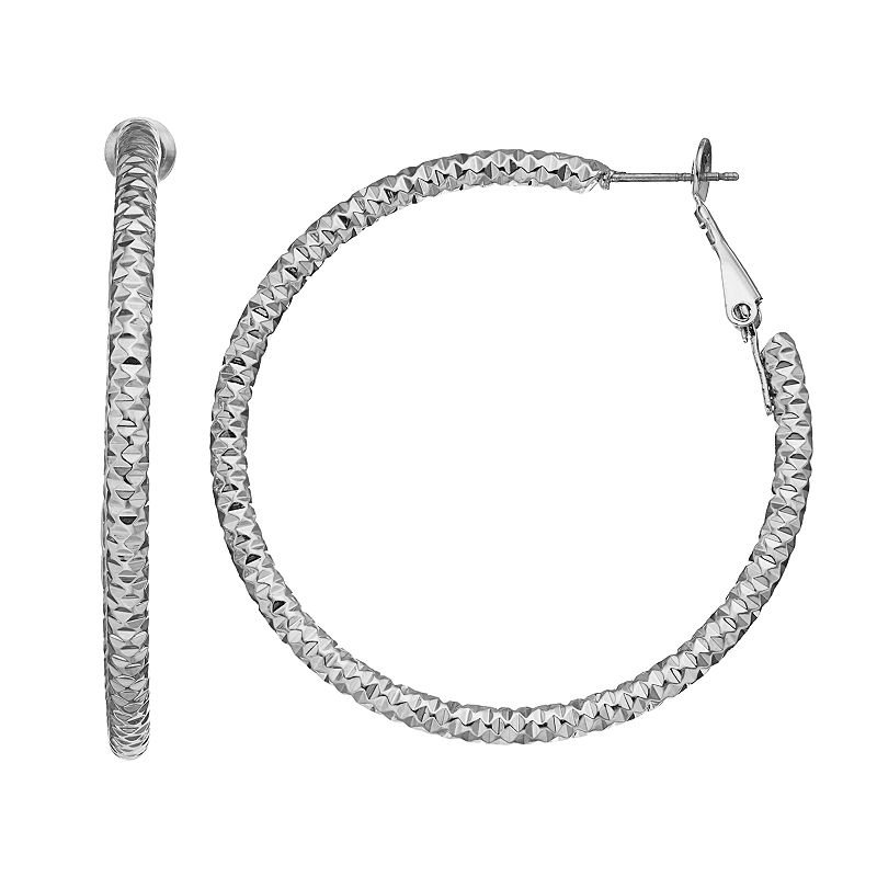 Mudd® Dimpled Hoop Earrings