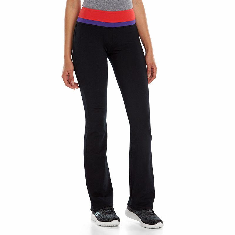 Juniors' SO® Stacked Skinny Bootcut Yoga Pants