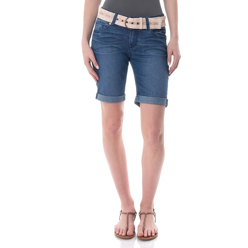 Juniors' Wallflower Denim Bermuda Shorts