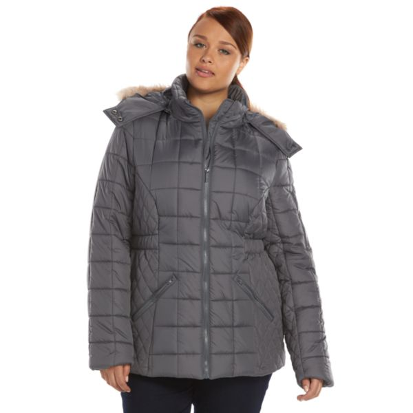 Plus Size Totes Hooded Quilted Puffer Jacket