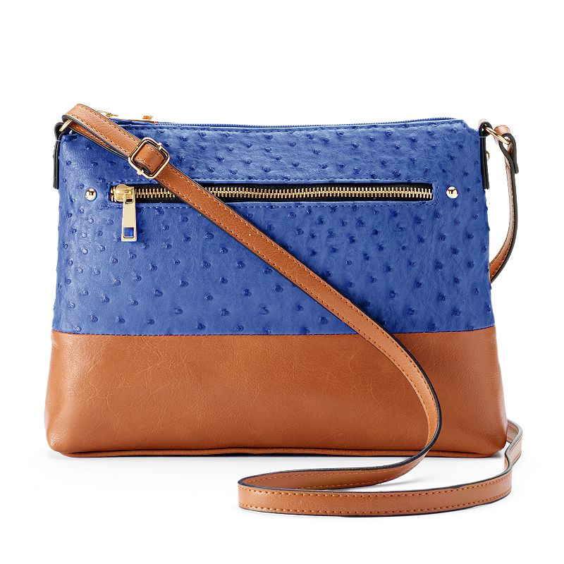 Mondani Montello Ostrich Crossbody Bag