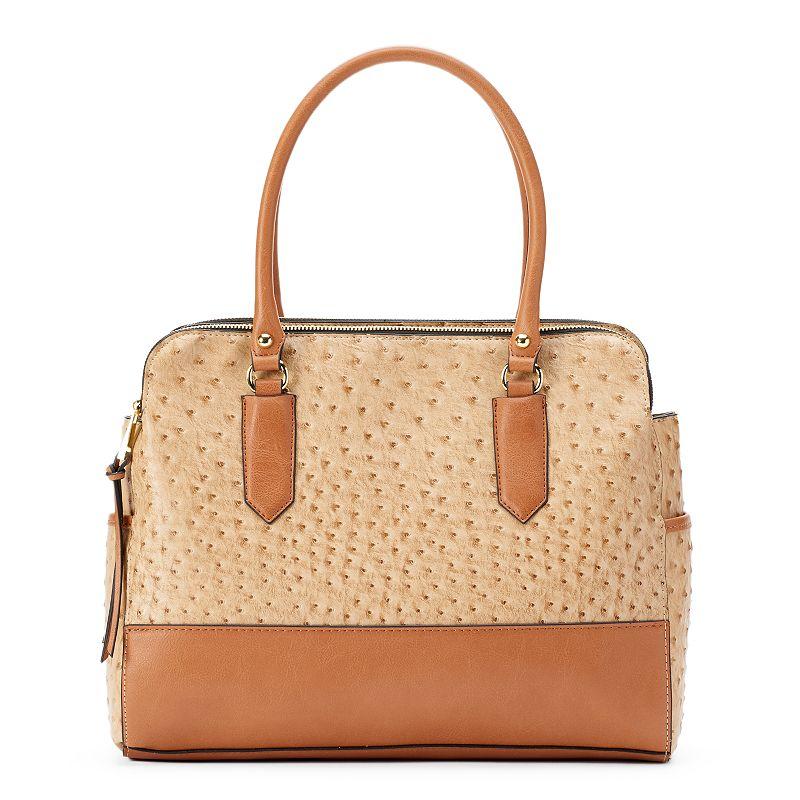 Mondani Montello Colorblock Ostrich Shoulder Bag
