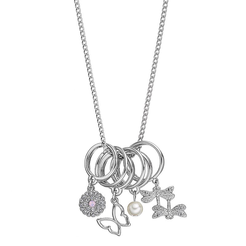 Mudd® 7-Ring Charm Necklace