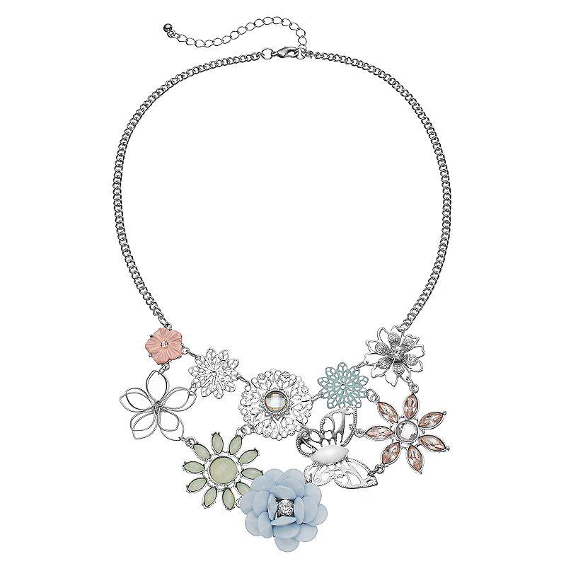 Mudd® Butterfly & Flower Statement Necklace