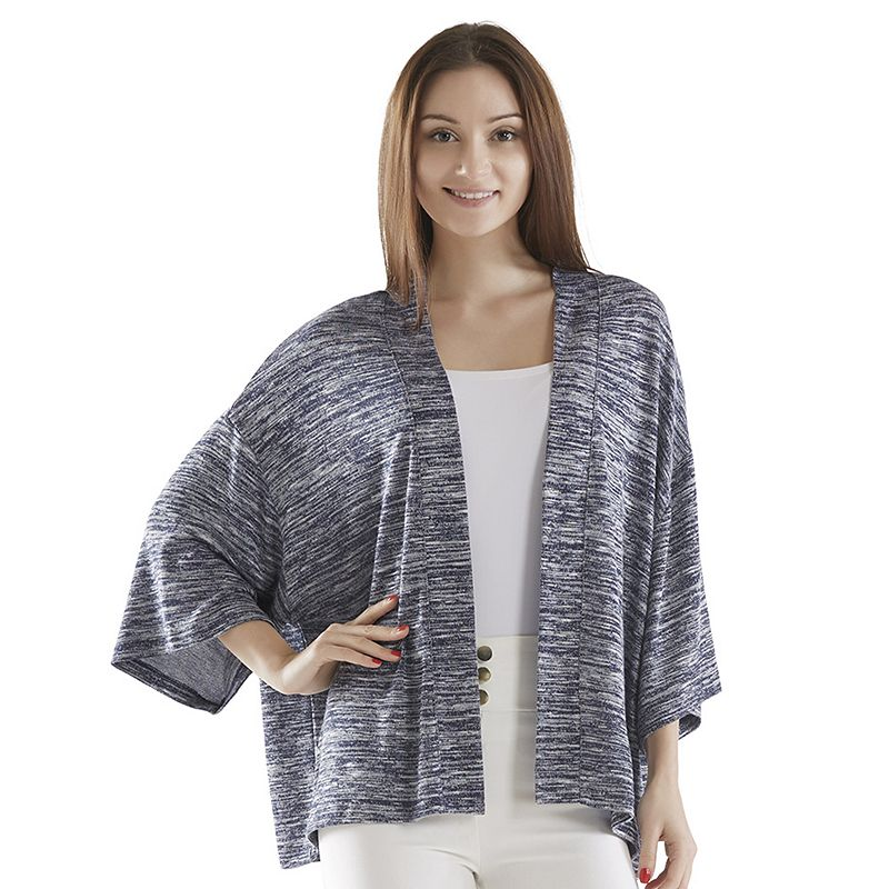 Women's INK+IVY Space-Dye Open-Front Cardigan