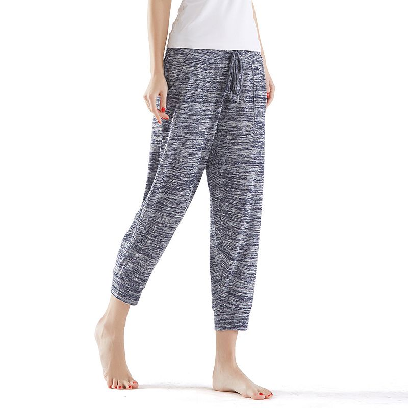 Women's INK+IVY Space-Dye Capri Jogger Pants