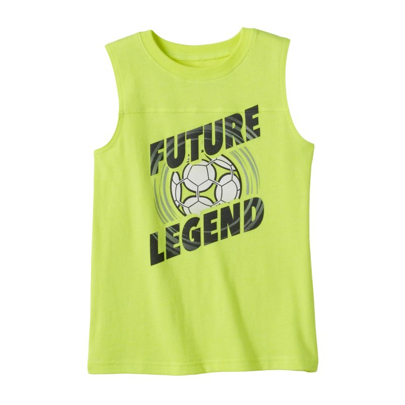 Boys 4-7x Jumping Beans Sport Graphic Muscle Tee, Boy's, Size: 6, Brt Yellow