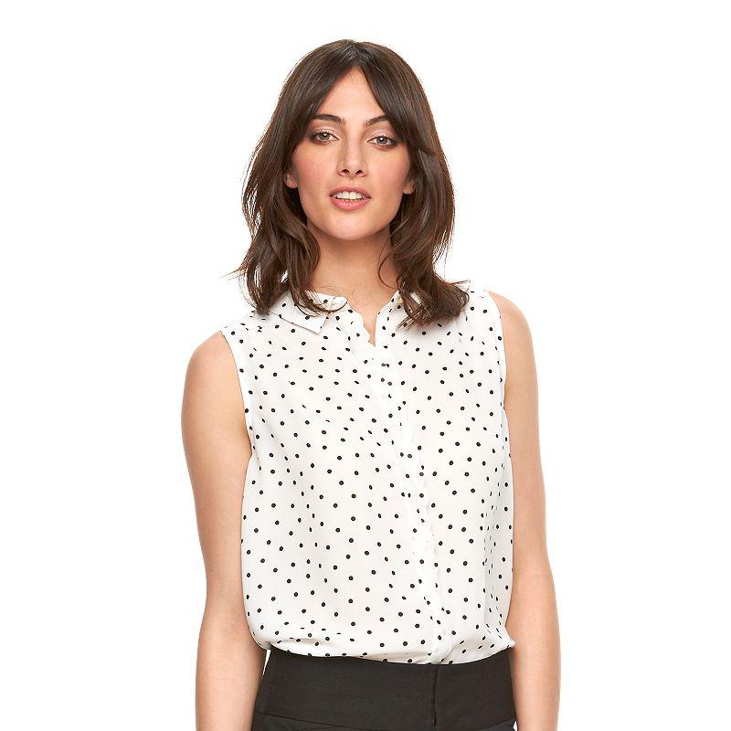 Women's ELLE™ Sleeveless Print Blouse