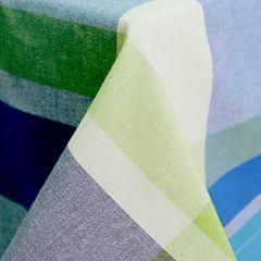 Fiesta Soiree Blue Plaid Tablecloth