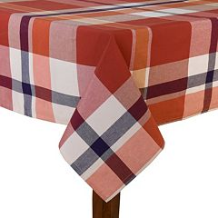 Fiesta Soiree Red Plaid Tablecloth