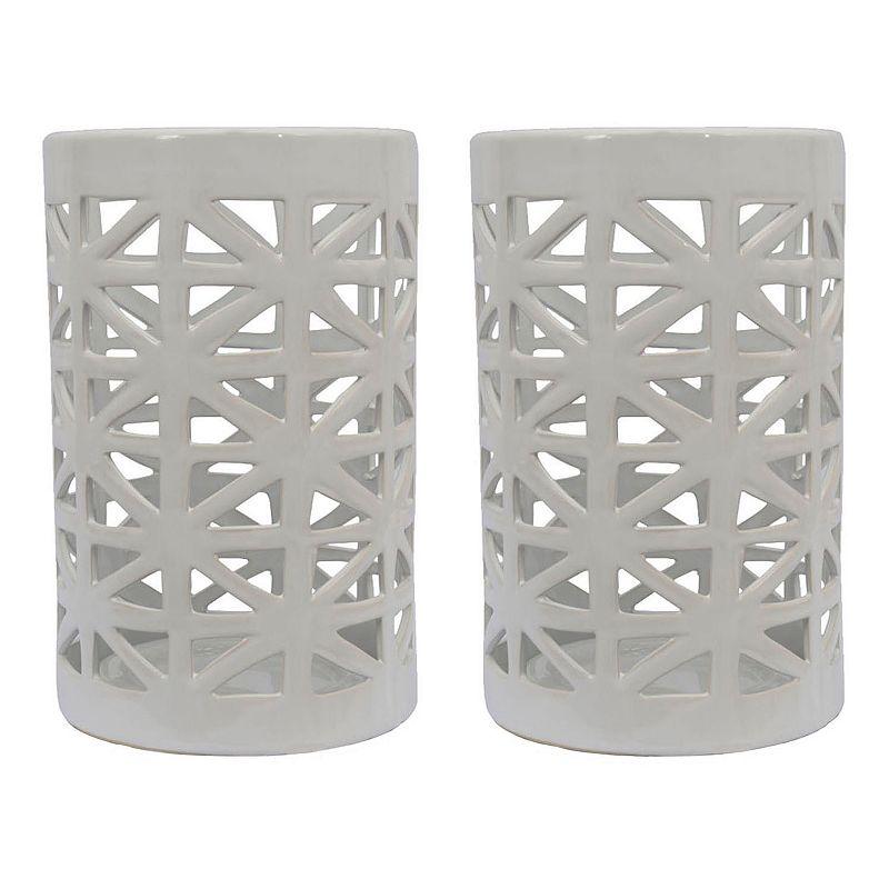 Decor Therapy Geometric Lantern 2-piece Set