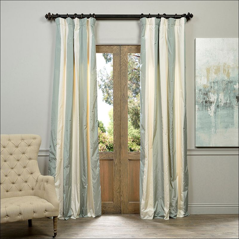 EFF Taffeta Striped Blackout Lined Curtain
