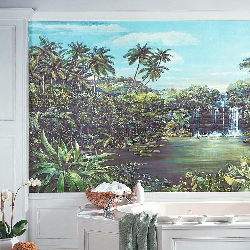 Tropical Lagoon Removable Wallpaper Mural