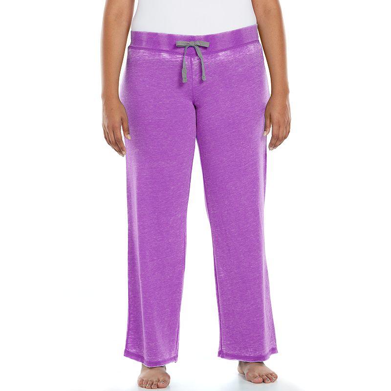 Plus Size Ten to Zen Burnout French Terry Lounge Pants