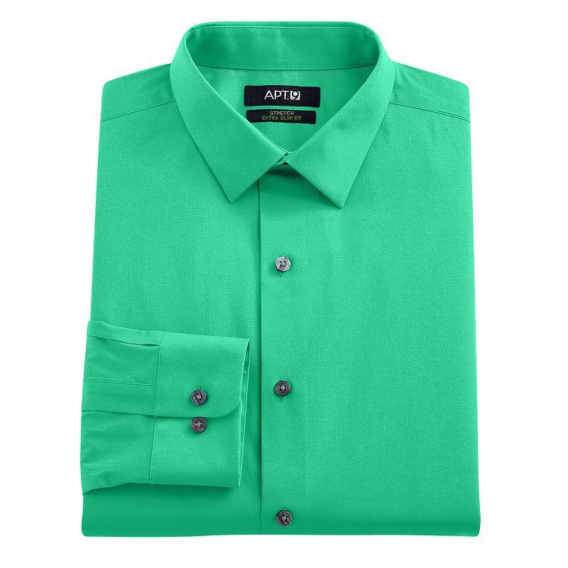 Men 39 s apt 9 extra slim solid stretch dress shirt dealtrend for Apartment 9 dress shirts