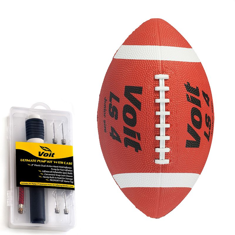 Junior Voit LS 4 Rubber Football with Inflating Kit