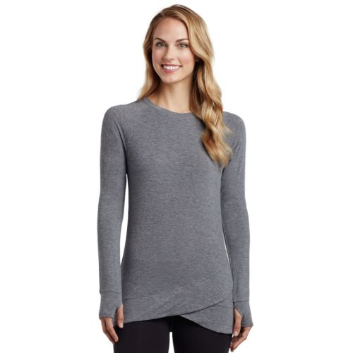 Women's Cuddl Duds Softwear with Stretch Wrap-Over Tunic