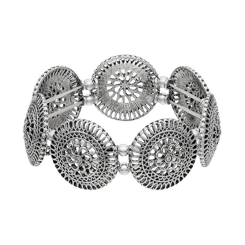 Mudd® Filigree Disc Stretch Bracelet