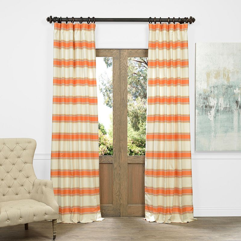 EFF Tyler Horizontal Striped Jacquard Faux Silk Curtain